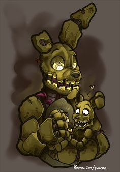 Afbeeldingsresultaat voor five nights at freddy's springtrap and plushtrap