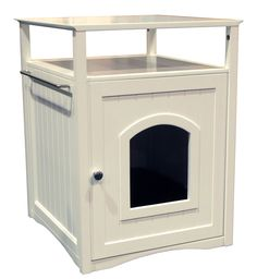 White Cat Washroom Get more of cat litter box solution at petpossibilities.com. Click visit and save this in your board.