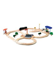 Road & Rail Turntable Train Set by PlanToys on #zulily