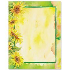 Sunflower Garden Border Papers