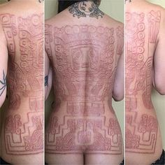 What does scarification tattoo mean? We have scarification tattoo ideas, designs, symbolism and we explain the meaning behind the tattoo. Scar Tattoo, Piercing Tattoo, Piercings, Body Piercing, Emo Scene, Kat Tat, Dermal Implants, Grunge, Models