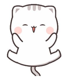 LINE Stickers Cutie Cat-Chan Jimao,Cutie Cat-Chan coming with her boyfriend back this time!,Stickers,Animated Stickers,Example with GIF Animation Cute Love Gif, Cute Love Memes, Cute Cat Gif, Cute Cartoon Pictures, Cute Love Cartoons, Cute Images, Cute Kawaii Animals, Kawaii Cat, Chibi Cat