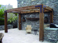 Extended Patio with Pergola . Extended Patio with Pergola . A Design for A Pergola to Shade the Dining Patio In This Diy Pergola, Timber Pergola, Rustic Pergola, Building A Pergola, Wooden Pergola, Outdoor Pergola, Pergola Ideas, Cheap Pergola, Pergola Lighting