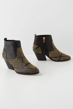 """- By Dolce Vita - Fits true to size - Side zip - Leather upper, insole, sole - 2.5"""" leather wrapped heel - 4""""H - Imported"""