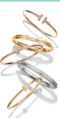 717fae437 There's always room for one more. Layer #TiffanyT #bangles for a wrist that  speaks volumes. #Tiffany #TiffanyAndCo