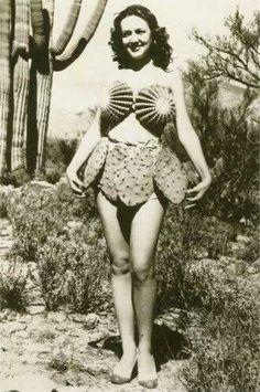 Vintage Picture  Cactus Bikini....