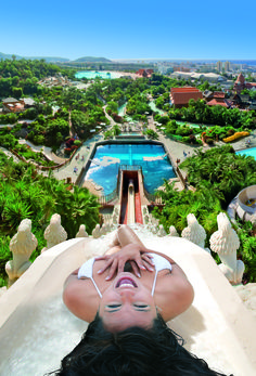 The Tower of Power at Siam Park in Tenerife