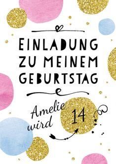 Die 28 Besten Bilder Von Einladungen 14 Geburtstag Invitation