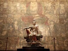 Guanyin of the Southern Sea Mahayana Buddhism, Tibetan Art, Buddha Art, Religious Images, Guanyin, Sacred Art, Ancient Art, Chinese Art, Japanese Art
