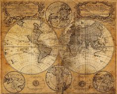 Aged Old World Map 1