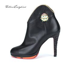 Butterfly #boots yellowladybird korean independent designer k-pop luxury leather gold