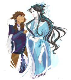 Korra and Raava