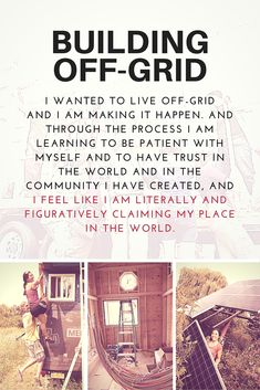 Miwa on building her tiny house off grid