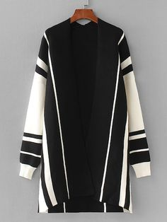 To find out about the Contrast Panel Drop Shoulder Cardigan at SHEIN, part of our latest Sweaters ready to shop online today! Cardigan Outfits, Sweater Cardigan, Crochet Cardigan, Fashion News, Fashion Fashion, Fall Outfits, Autumn Fashion, Clothes For Women, Look Alike