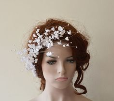 Wedding  Flower Hair Combs  Wedding Hair Accessories  by ADbrdal #bride #wedding #weddingaccessory #weddinghair #weddingveil