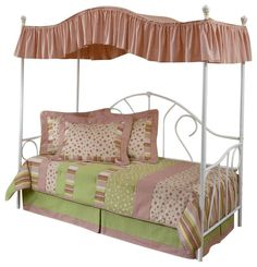 canopy metal daybed with trundle traditional design