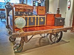Railroad Depot Baggage Cart, Large, Antique | vintage games and ...