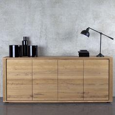 Modern oak sideboard