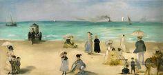 On the plage at Boulogne Édouard Manet Peintures à l'huile