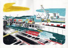 Port Atlantique La Rochelle - Jordan Graphic La Rochelle France, Illustrations, Jordan, Graphic, Fair Grounds, Fun, Travel, Puertas, Paint