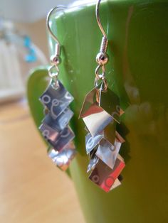 Upcycled Soda Can Earrings