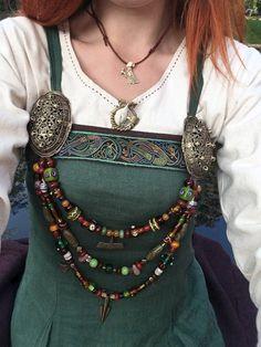 Luna In The Forest – viking Viking Garb, Viking Dress, Viking Costume, Medieval Costume, Medieval Dress, Norse Clothing, Medieval Clothing, Historical Costume, Historical Clothing