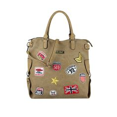 SCHULTERTASCHE PATCCHES TASCHE Shopper Handtasche Canvas Reisetasche DIN-A4 Bag: EUR 32,95End Date: 03. Mai. 16:33Buy It Now for only: US…