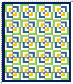Sew Preeti Quilts: Quilt Layout - Half Log Cabin