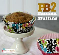 PB2 Banana Muffins | TodaysCreativeBlog.net