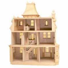 Greenleaf Beacon Hill Dollhouse Kit - 1 Inch Scale | Hayneedle