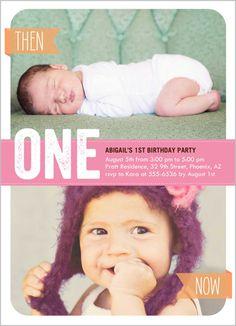 103 Best Baby Girl S 1st Birthday Invitations Images On Pinterest