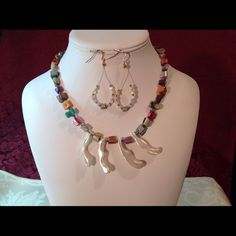 """Spotted while shopping on Poshmark: """"Handcrafted Necklace/Earrings  #5024B""""! #poshmark #fashion #shopping #style #FireGlow Gem #Jewelry"""