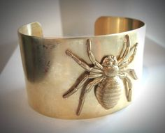 Oh my...Spider Bite Brass Cuff bracelet by JewelryByMaeBee on Etsy, $26.00