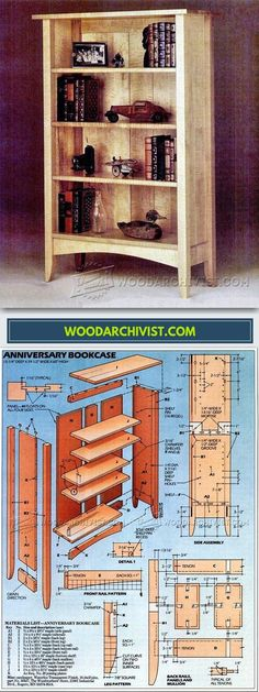 Anniversary Bookcase Plans - Furniture Plans and Projects | WoodArchivist.com