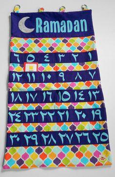 Oversized colorful Ramadan calendar with pockets by LadybugSnug