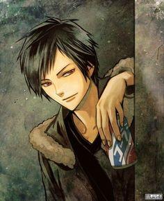 Durarara, Izaya Orihara, Shizaya, Shinra Kishitani, Celty Sturluson, Writing Characters, I Love Anime, My Character, Hetalia