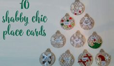 Shabby chic Christmas placecards