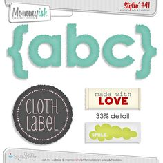 CU - Stylin #41 - Cloth Labels - Mommyish