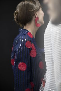 See the dazzling details backstage at Armani's Milan Fashion Week runway show, now on wmag.com.