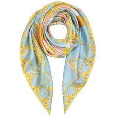 Emilio Pucci Women's Light Blue Silk Scarf (1.405 BRL) ❤ liked on Polyvore featuring accessories, scarves, blue, emilio pucci, silk shawl, blue scarves, silk scarves and light blue scarves