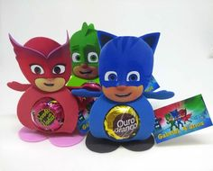 15 Lembrancinhas para Festa de Aniversário PJ Masks Birthday Favors, 5th Birthday, Birthday Parties, Pj Max, Festa Pj Masks, Pig Mask, Mask Party, Ladybug, Cupcakes