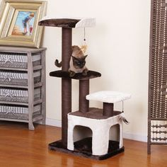 """Creme+45""""+Cat+Condo+by+PetPals+PP5472"""