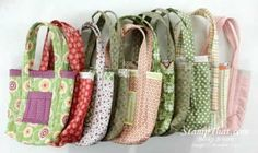 Some very cute fabric totes - why not make some yourself with SU fabrics!