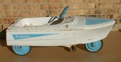 Vintage Murray? Dolphin Pedal BOAT car, original condition!~~