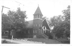 Lapeer Michigan The Church of The Lutheran Hour Real Photo PC V6136