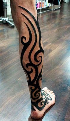 Pantorrillas tatuaje de durmiendo con