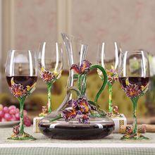Любезно источником счастья ирис эмаль кристалл вино пять костюм Европейская мода кубок Вина Графин(China (Mainland))