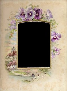 Victorian pansy frame for tag or place card or invitation.  Or a matte for a photo of the event.  There are some other interesting pansy Images in the same Aug. 28, 2012 post.  This is an English translation of the page.