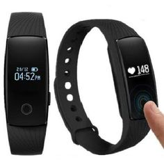 Heart Rate MonitorFitness Tracker Pedometers Sleep Monitor Activity Tracker for Android IOS Smartphone Bluetooth 40 Black * For more information, visit image link. (Note:Amazon affiliate link)