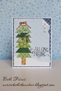 Beth's Beauties: Christmas Tree Card using Cranberry #trendytwine